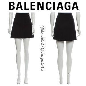 Balenciaga black wool mini skirt FR 42/US 10